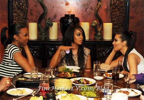 Kelly Rowland, La La Vazquez and Kim Kardashian