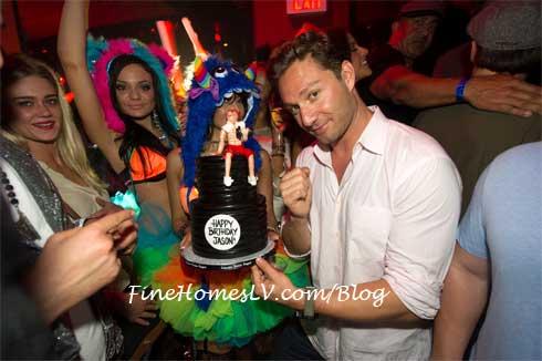 Jason Strauss Birthday Cake At TAO Nightclub