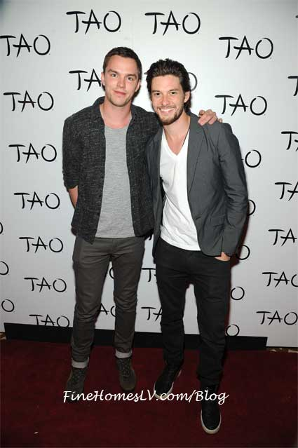 Nick Hoult and Ben Barnes at TAO Las Vegas Nightclub