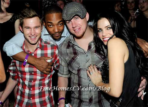 Brian Geraghty, Anthony Mackie, Channing Tatum and Jenna Dewan Tatum