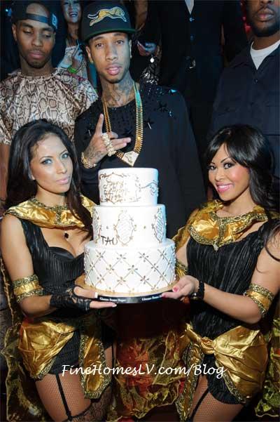 Tyga With Birthday Cake
