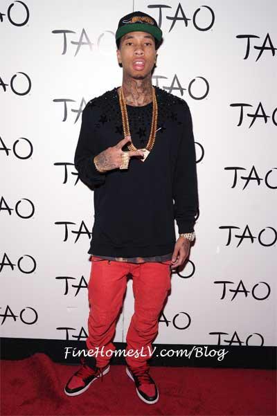 Tyga on The Red Carpet at TAO Nightclub
