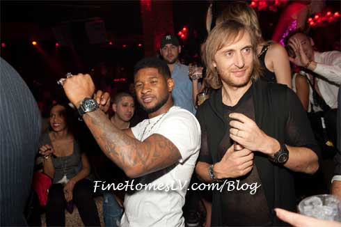 Usher and David Guetta at TAO Nightclub