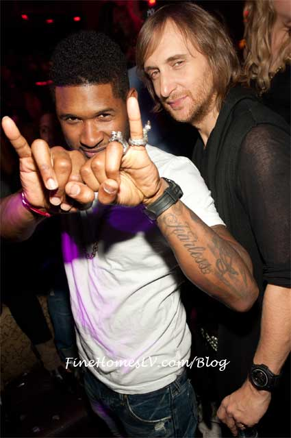Usher and David Guetta at TAO Las Vegas