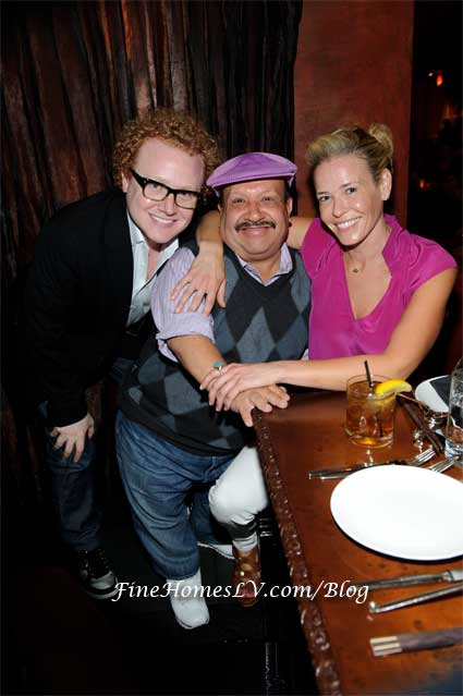 Brad Wollack, Chuy Bravo and Chelsea Handler