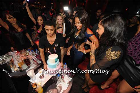 Angela Simmons at Tryst Las Vegas