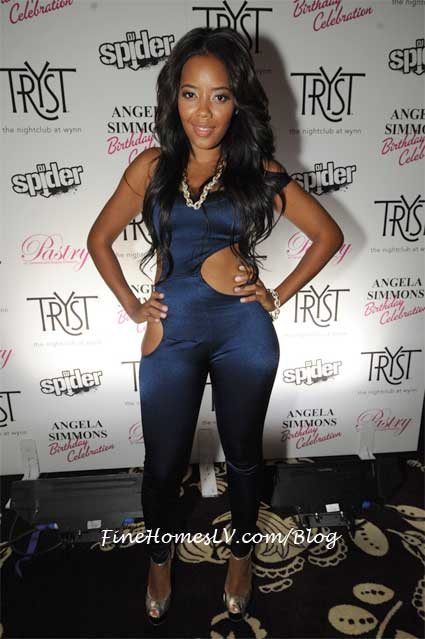 Angela Simmons at Tryst Nightclub
