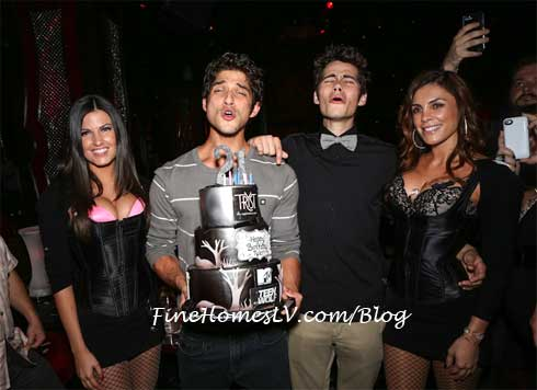 Tyler Posey and Dylan Obrien at Tryst