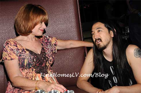 Andrea Gross and Steve Aoki