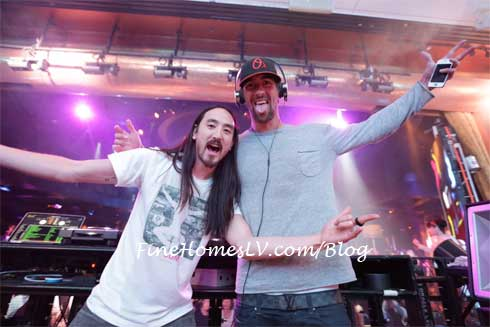 Steve Aoki and Michael Phelps