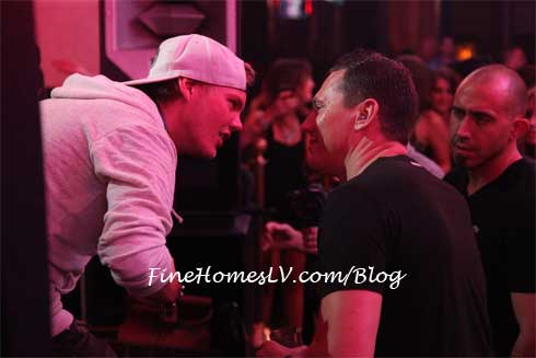 DJ Avicii and DJ Tiesto at XS Nightclub