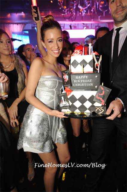 Christian Serratos at XS Nightclub
