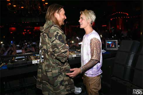 David Guetta and Justin Bieber At XS Nightclub