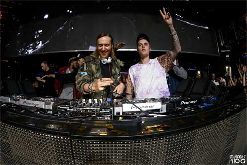 David Guetta And Justin Bieber At XS
