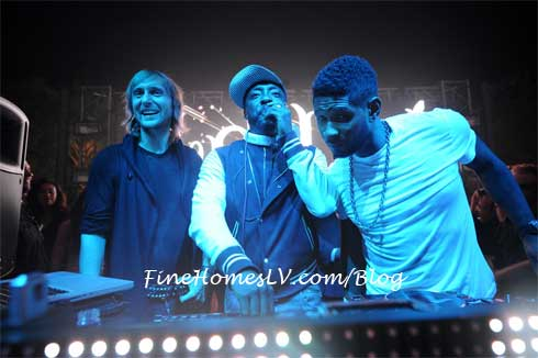 David Guetta, Will.i.am and Usher at XS Nightclub