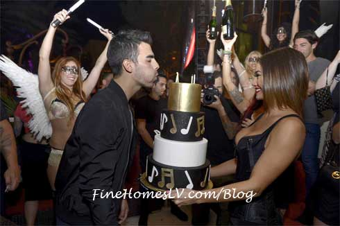 Joe Jonas With Birthday Cake