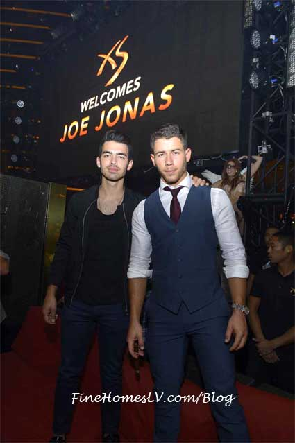 Joe Jonas and Nick Jonas at XS Las Vegas