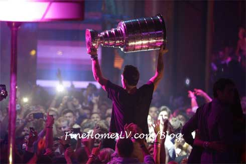 Stanley Cup At XS Las Vegas Nightclub
