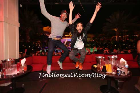 Michael Phelps and Steve Aoki