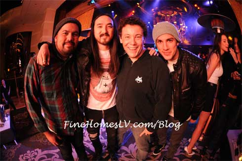 Steve Aoki, DJ Joachim Garraud and Michael Trevino