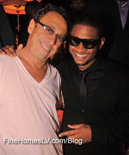 Usher and Victor Drai