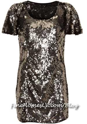 Sequin Dress at Topshop