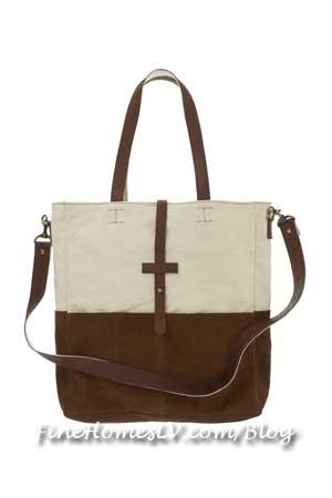 Suede Canvas Bag at Topshop