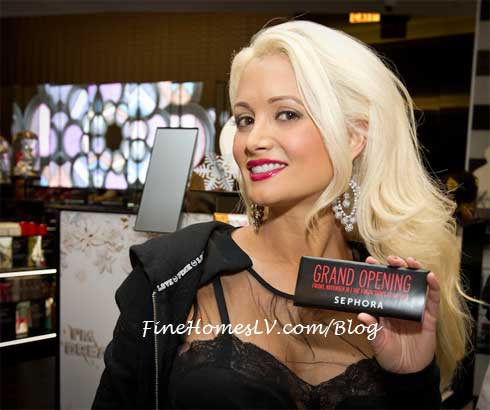 Holly Madison at Sephora