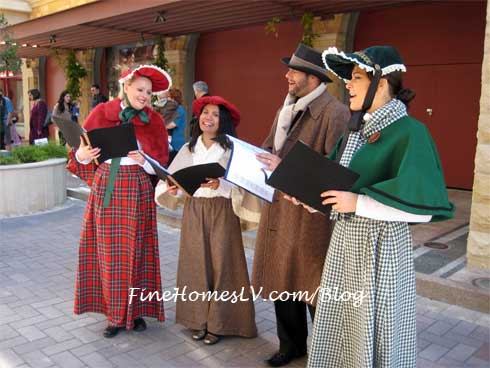 Carolers at Tivoli Village