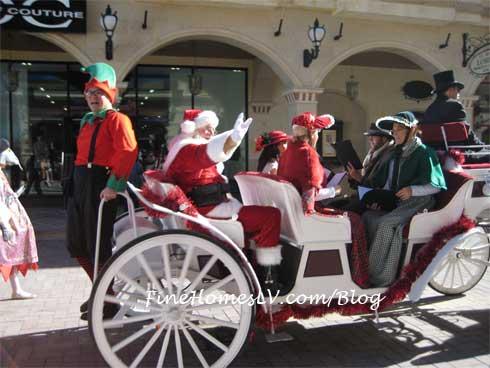 Santa in Carriage at Tivoli Village