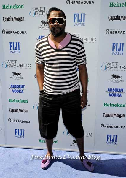 will.i.am on the Red Carpet at Wet Republic