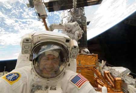 NASA Astronaut in Space