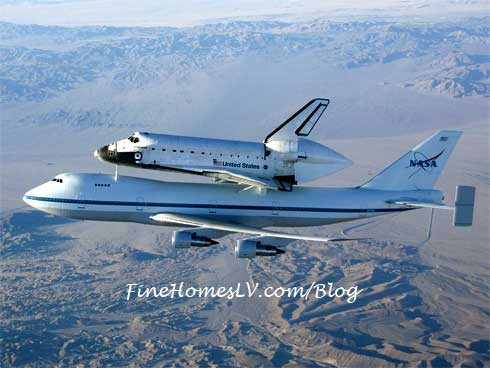 Space Shuttle Endeavour On 747