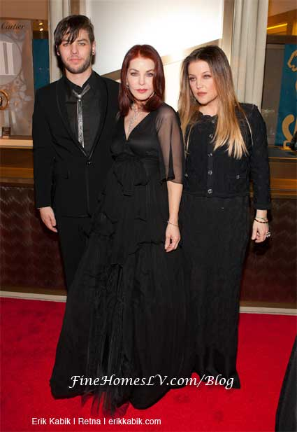 Navarone Garibaldi, Priscilla Presley and Lisa Marie Presley