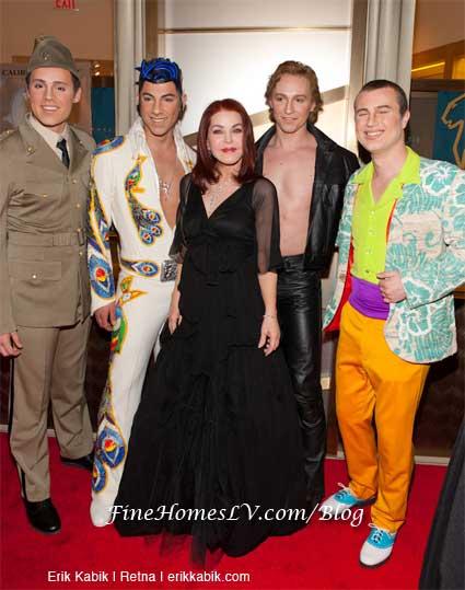 Priscilla Presley and Viva Elvis Performers