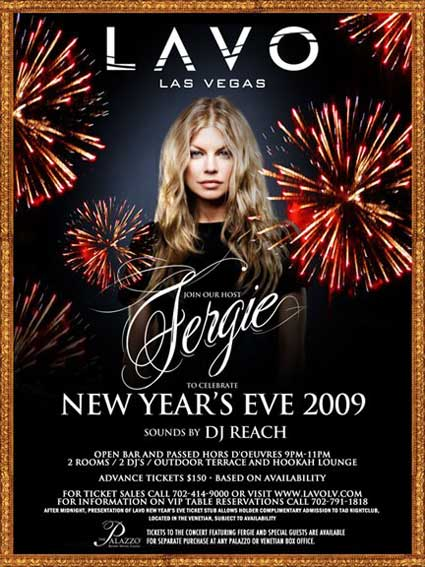 Fergie In Vegas NYE