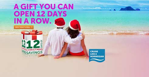 12 Days of Christmas Savings at Norwegian