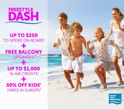 Dash Sale on Norwegian Cruise Line