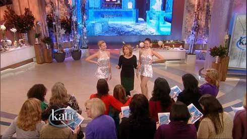 Katie Couric and Rockettes