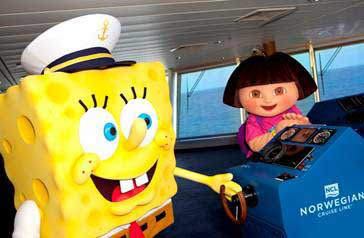 SpongeBog Squarepants and Dora The Explorer