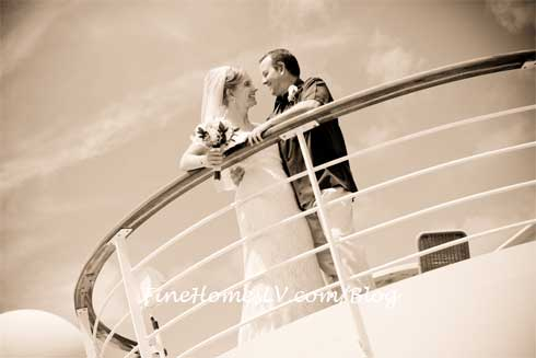 Wedding Couple on Cruise Ship