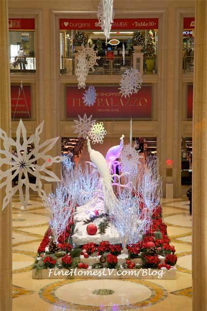 Holiday Display Peacocks