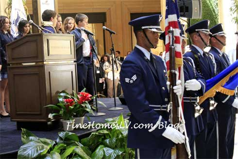 Nellis Honor Guard and Sheldon Adelson School