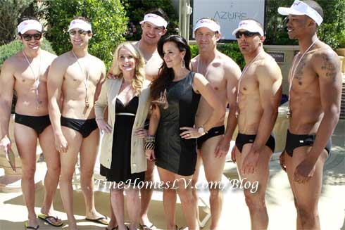 Kim and Kyle Richards With Spiegel Cabana Boys