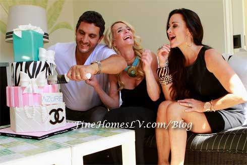 Maurico, Kim and Kyle Richards