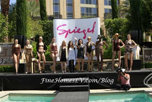 Spiegel Fashion Show at AZURE Las Vegas Pool