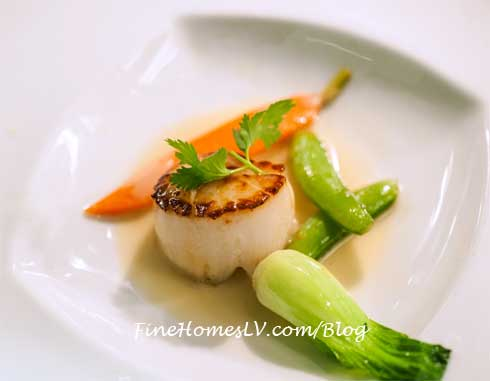 Seared Scallops and Vegetables