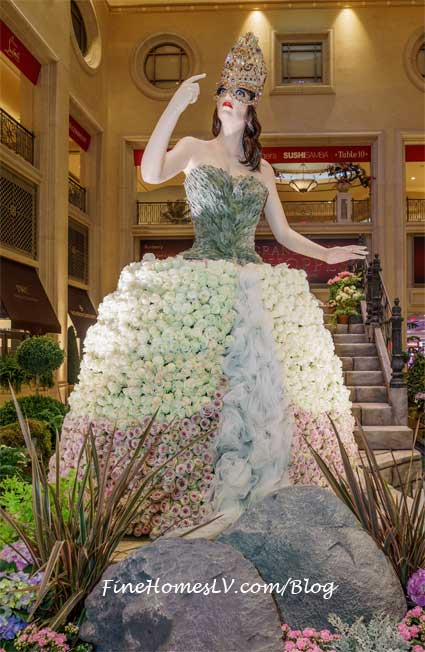 White Topiary Dress at The Palazzo