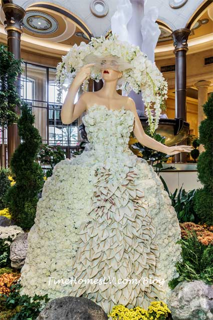 White Floral Topiary Dress