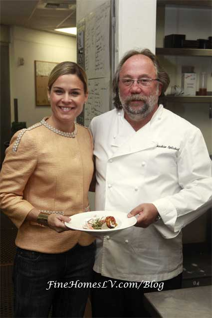 Chef Cat Cora and Chef Joachim Splichal